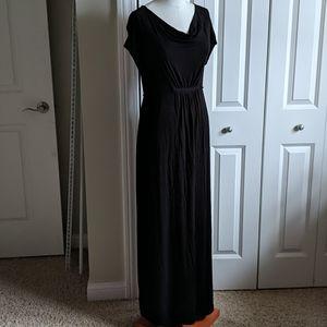 Old Navy black maxi maternity dress